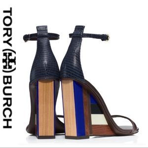 💕SALE💕 Tory Burch Color Block Cube Brown Wedges